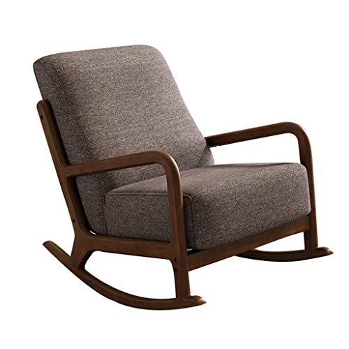 Nursery Rocking Chair Modern Fabric Armchair Recliner Sofa Comfortable Relax Chair Lounge Chair Recliners with Armrests Leisure Chair Living Room Chair Accent Chair Rocker Recliner Chair