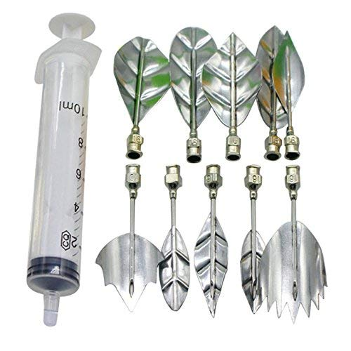 Cisixin 10Pcs Stainless Steel 3D Gelatin Art Tool Set Jelly Flower Cake Tool Kit