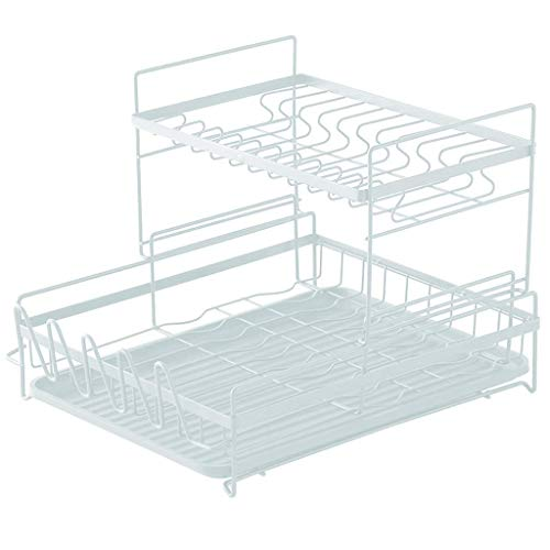 Cutlery Holder 17.3 inch Dish Rack for Kitchen Storage Cups Tableware Fruits and Vegetables Metal Drain Rack Large Dish Drying Rack Over The Sink Rack in Kitchen Women's gi