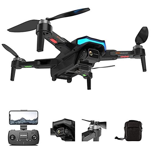 WYZXR Drones para adultosDrone, avión de Control Remoto Ligero, Plegable, Ultra Claro, de Cuatro alas, de Doble cámara, 6k, con batería de Larga duración y Tres baterías, Adecuado para anuncios