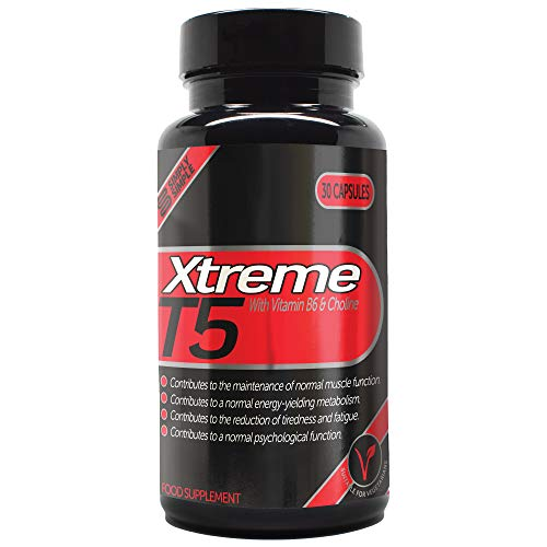 Simply Simple T5 Xtreme Fat Burner with Added Vitamin B6, Choline & Vitamin D3 | Vegetarian Friendly T5 Diet Pills | Unisex Weight Loss Supplements for Men & Women