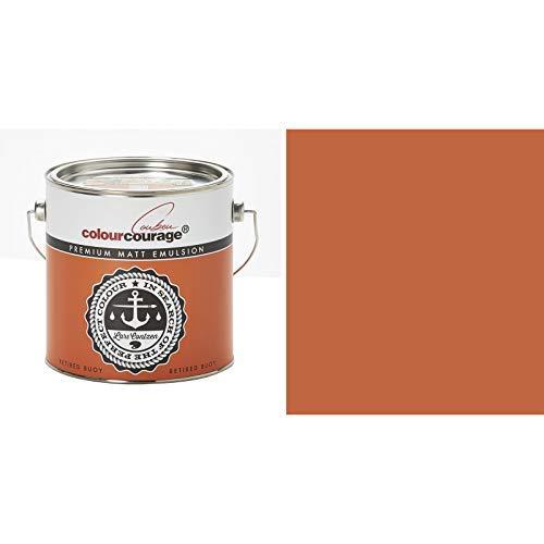 2,5 Liter Colourcourage Premium Wandfarbe Retired Buoy Orange   L719778594   geruchslos   tropf- und spritzgehemmt