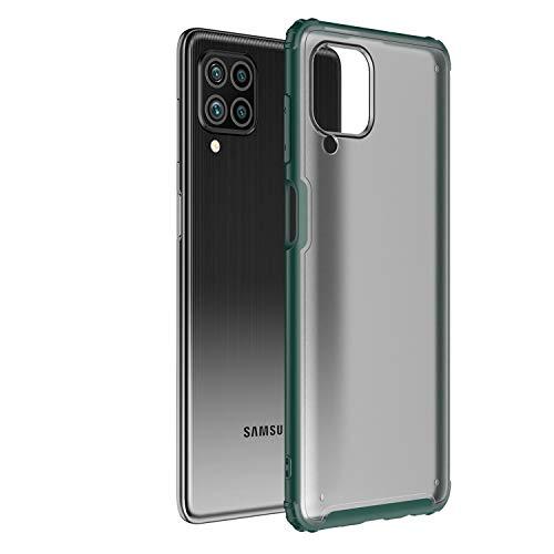 Ultra Hybrid Funda para Galaxy F62, Anti-Choque Bumper Case Caso para Samsung Galaxy F62, Verde