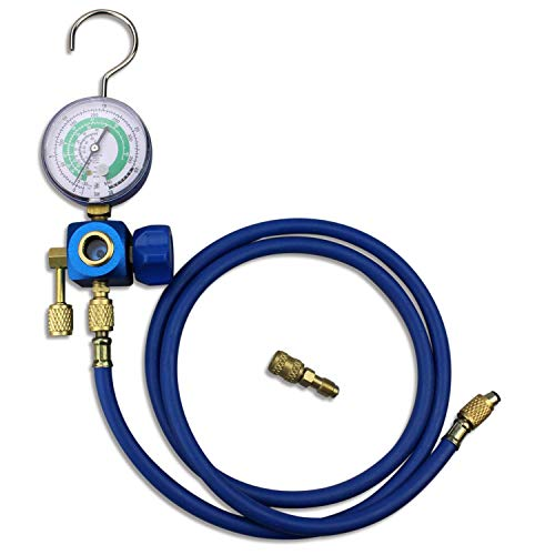 BACOENG Klimaanlage Kältemittel Aufladeschlauch mit Messgerät und Haken R410a R22 R407c R134A
