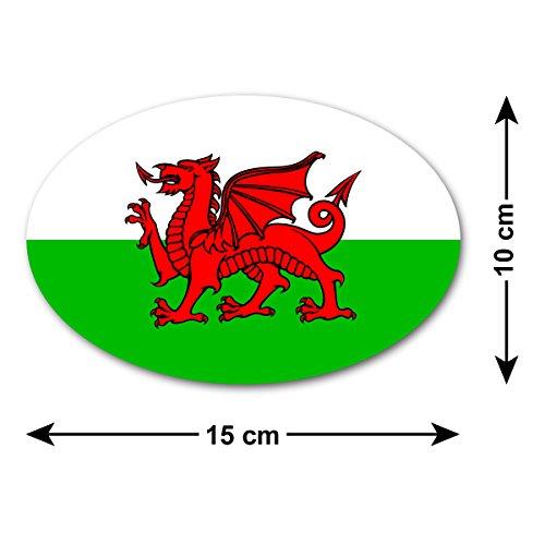 ZygoMax Welsh Dragon Car Sticker/Decal - The National Flag of Wales - Baner Cymru