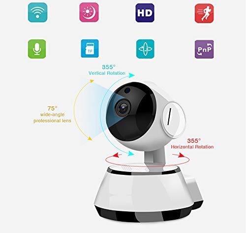 1080p Cámara de vigilancia doméstica inalámbrica para interiores Monitoreo Cámara de seguridad automática Red WiFi Teléfono celular Home Baby Monitor