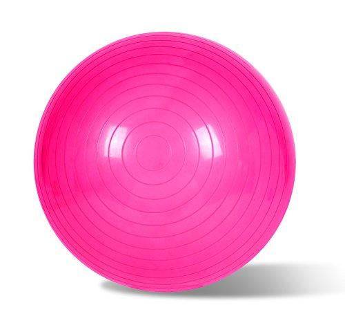 EmpireAthletics – Resistene Bola de Ejercicios Suiza con Bompa Manual 75 cm diámetro Ø – Anti-Burst Fintess Pelota Balón Gymball Yoga Pilates Ejercicio Workout en PINK