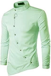 Jeevaan Cotton Plain Solid Slim Fit Shirt for Men's