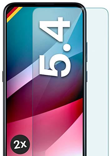moex Panzerglas kompatibel mit Nokia 5.4 - Schutzfolie aus Glas, bruchsichere Bildschirmschutz Folie, Crystal Clear Panzerglasfolie, 2X Stück
