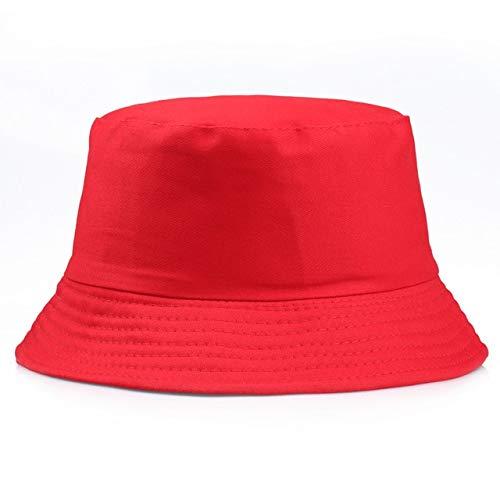 Sombrero de Cubo slido Blanco Negro Gorras Unisex Gorros de Hip Hop Hombres Mujeres Gorra de Verano Playa Sol Sombrero de Pesca-Red