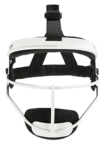 RIP-IT Defense Pro – The Ultimate Softball Fielder's Mask – Lightweight Protection with Uninhibited Visibility, Performance, and Blackout Technology – White – Youth