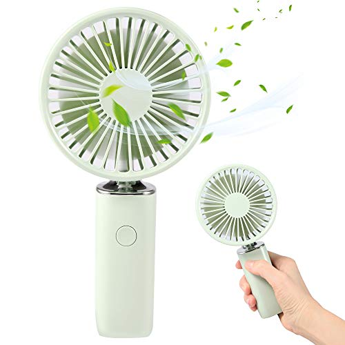 Handheld Mini USB Fan,GoLine Best Gifts for Mother Mom Women Girlfriend Teen Girls, Small Battery Powered Queit Fan.(Green)