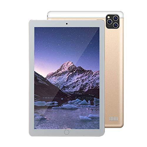 10-inch 3G Android 9.0, 8MP and 13MP Cameras, 128GB ROM, 6GB RAM, Phone, Tablet, Unlocked Dual SIM Card Slot, EIER Bluetooth, GPS, WiFi, Gravity Sensor-Gold