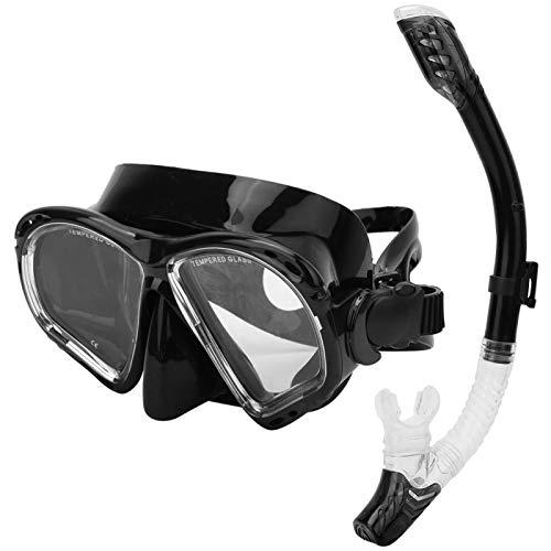 DAUERHAFT Tubo de respiración antivaho y antifugas de Agua, para Adultos(Black)