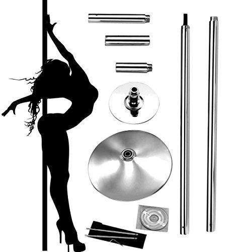 Profi Pole Dance Tanzstange 45mm GoGo Tabledance Static + Spinning Ohne Bohren Tragbare Stripstange für Zuhause Verein Club Party
