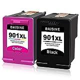 BAISINE Kompatibel für HP 901XL 901 XL Druckerpatronen für HP Officejet 4500 J4580 J4585 J4500 J4680 J4524 J4535 J4540 J4550 J4560 J4600 J4624 J4660 J4680, HP Officejet G510 Series ( Schwarz, Farbe)