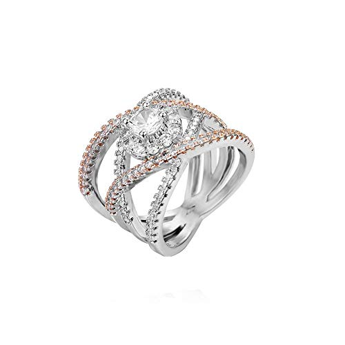 Mode Diamond Zylindrische Ringe feinen Roségold Ring YunYoud silberschmuck günstig verlobungsring modeschmuck doppelringe siegelring schlangenring titanringe fingerringe