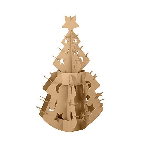 WWZL Juguetes de Costura Infantil Artículos de Decoración de Árboles de Navidad Corrugados Color Pintable Bricolaje