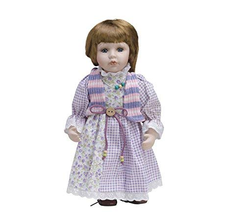 Bambola di porcellana di 30cm con supporto. Martina–bam008