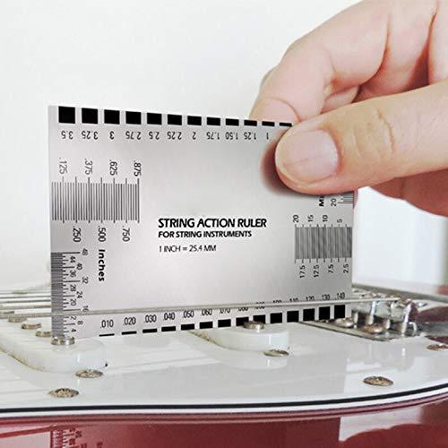 SUNXK 1 Unids Accesorios de Guitarra Cuerda Medidor de Acción Regla Guitarra Barroca Bajo Tono de Cuerda Luthier Herramienta for Instrumentos de Cuerda Nuevo 42 B SUNXK