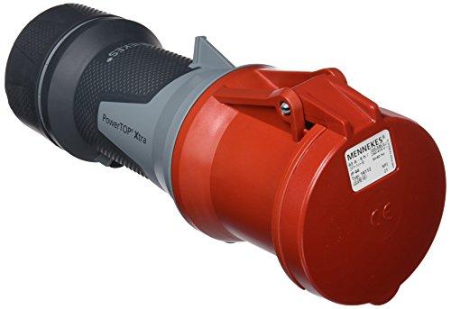 Mennekes (Unternehmen) 101300054prolongadores Power Top Xtra, Steckdosen CEE, 400V, 50–60Hz, 63A, 5-polig, IP 44Grad Schutz, Rot