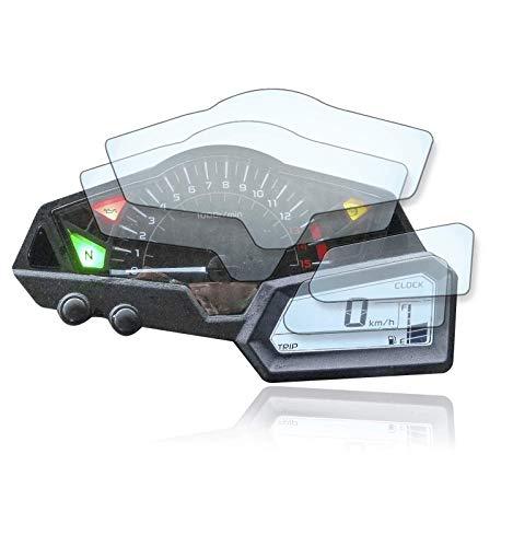 [2 Stück] Displayschutzfolie Tacho Schutzfolie geeignet für Kawasaki Ninja Z300 Panzerglas