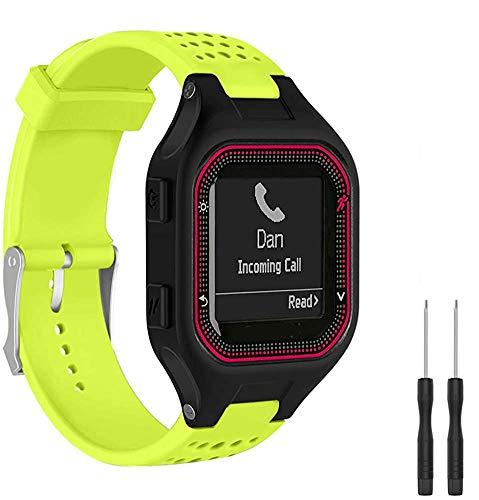 Shieranlee Compatible con Forerunner 25 GPS Running Smart Watch,Suave Silicona de Ajustable Deportiva Pulsera de Reemplazo Compatible para Garmin Forerunner 25 Fitness Tracker with Adapter Too