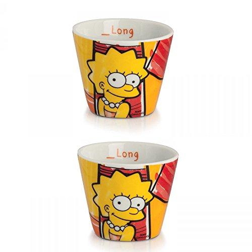 Egan PTS83/2S Kaffeebecher, Modell Lisa, Porzellan, Mehrfarbig, 2 Stück