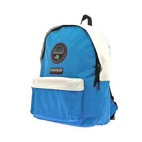 Napapijri Voyage Team - Zaino Unisex Adulto 40 × 32 × 13 cm esclusa tasca frontale adatto per la scuola nonché per essere utilizzato come bagaglio a mano (Bianco Celeste)