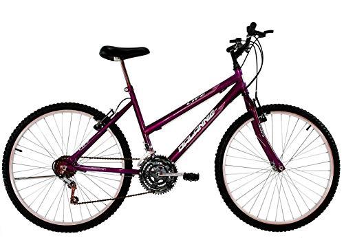 Bicicleta Aro 24 Feminina Life 18 Marchas Roxa Violeta