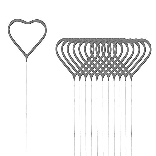 Candela magica a forma di cuore, in set da 12 pezzi, altezza 18 cm, durata 30-35 secondi, San Valentino