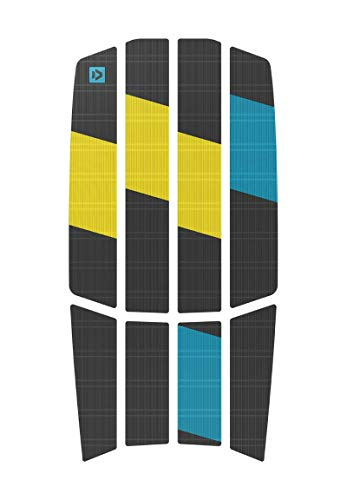 Duotone Kiteboard Footpads Traction Pad Team Front 3mm Dark Grey Yellow ONE SIZ