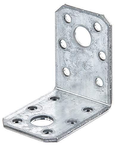 GAH-Alberts 332334 Équerre d'assemblage - acier, galvanisée Sendzimir, 50 x 50 x 35 mm / 6 pcs
