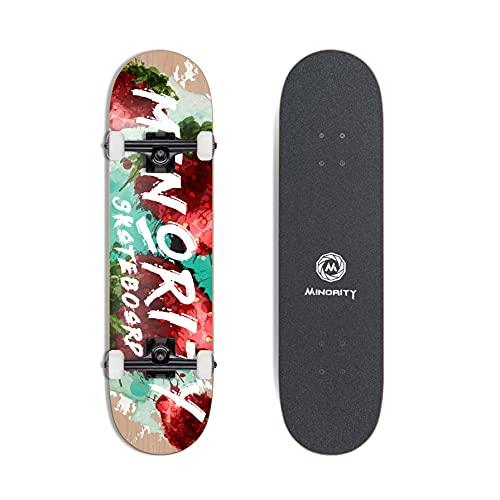 MINORITY 32inch Maple Skateboard (Berry)