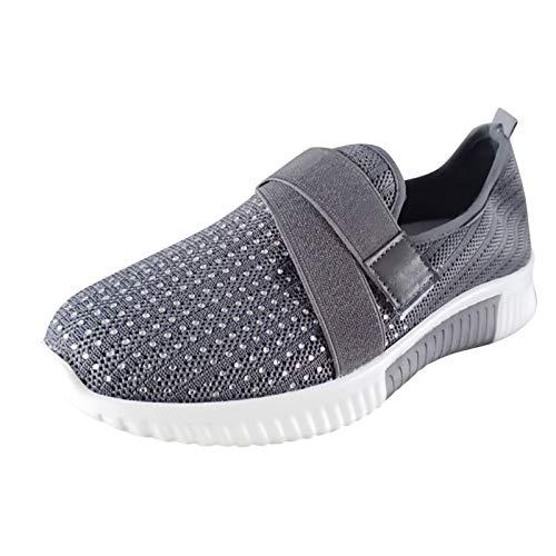 Sandalias Deportivas de Mujer Malla Ligero Zapatillas Casual Cómodas Respirable Sneakers para Deportes Fitness...