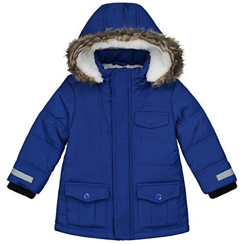 Prénatal Baby-Jungen Winter Jacke Kapuze mit Pelzkragen Blau Größe 74