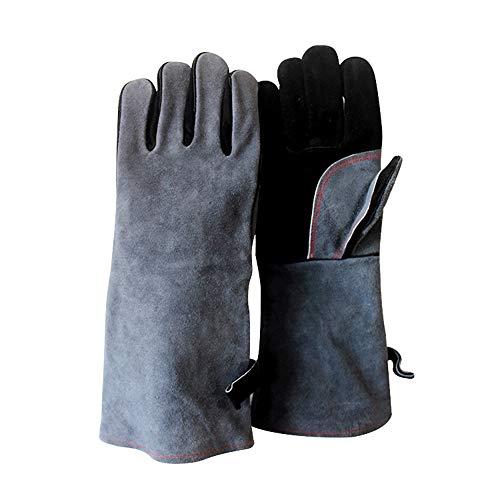 Kimmyer Grillhandschuhe Grillhandschuhe Isolierter, wasserdichter/öl- und hitzebeständiger Grill - 932 ° F Feuer/Hitzebeständiger Handschuh mit Langarm für Grillhandschuh-Kochhandschuhe