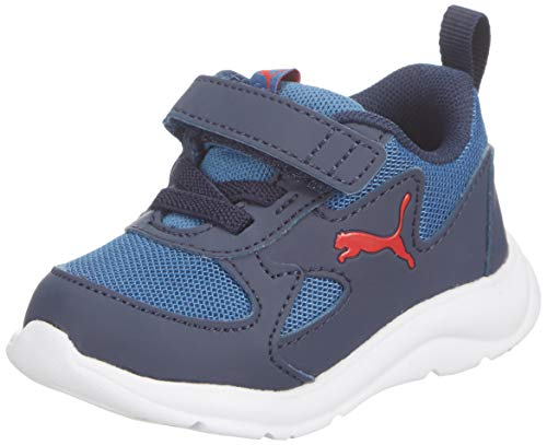 PUMA Fun Racer AC INF, Zapatillas Unisex niños, Azul (Bright Cobalt/High Risk Red), 26.5 EU