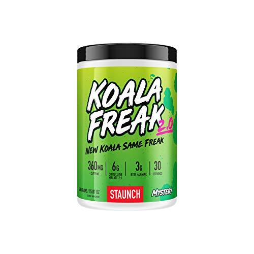 Staunch Koala Freak 2.0 Pre-Workout (Blue Raspberry) 30 Servings - Effective, Premium Pre-Workout Powder