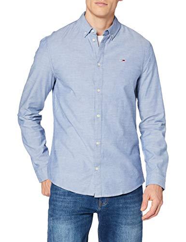 Tommy Hilfiger Tjm Slim Stretch Oxford Shirt Camicia, Twilight Navy, L Uomo