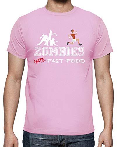 tostadora - Mnner - T-Shirt Zombies Run Rosa L
