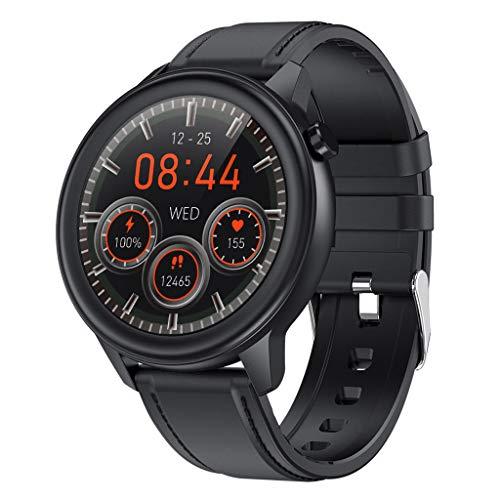 APCHY Reloj Inteligente Smartwatch para Hombres,Rastreadores De Actividad De Monitoreo De La Temperatura Corporal,Frecuencia Cardíaca,Presión Arterial, Oxígeno En La Sangre,C