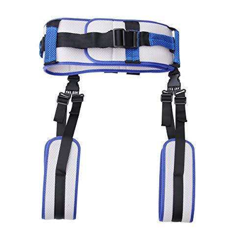 Healifty Transfergurt mit Beinschlaufen Sicherheitsgurt Transfer Gürtel für Älterer Patienten Krankenpflege Rehabilitation (Blau)