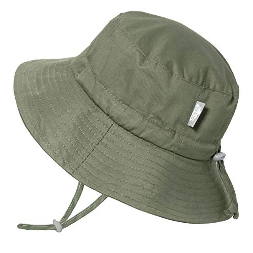 Jan & Jul Kids Cotton Bucket Sun-Hat, 50+UPF, Adjustable Straps, for Baby and Toddler, Girl or Boy