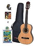 [page_title]-Voggy's Kindergitarren-Set 1/2 - Gitarre für Kinder ab 6 Jahren im Komplettset mit Zubehör auch geeignet für Anfänger, natur