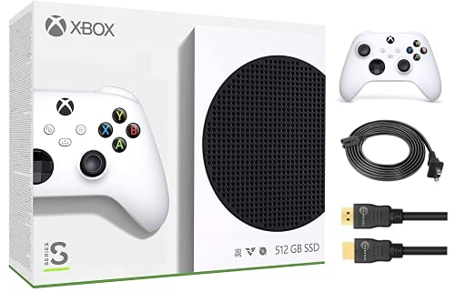 2021 Newest_Microsoft_Xbox Series S 512GB SSD All-Digital Console +1 Wireless Controller, 10GB GDDR6 RAM, 1440p Gaming, 4K Streaming, 3D Spatial Sound, DTS Audio, HDR, WiFi + Marxsol HDMI Cable