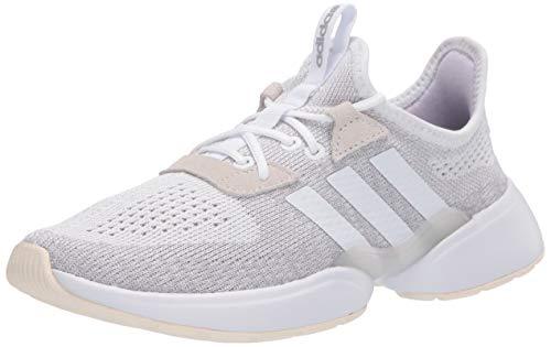 adidas Women's Mavia X Running Shoe, FTWR White/FTWR White/Purple Tint, 5.5 M US