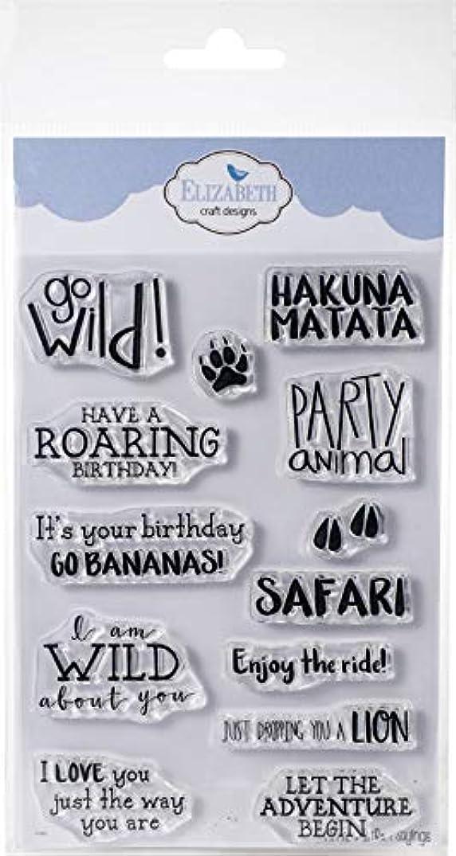 Elizabeth Craft CS126 Safari Sayings Clear Stamps