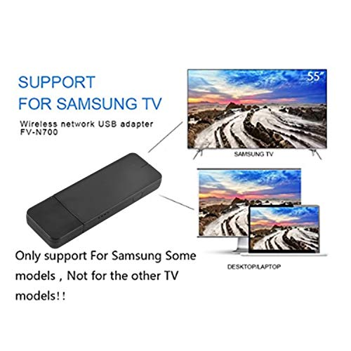 Dicrey USB Wireless WiFi Adapter Samsung TV Wireless WiFi Network Card Adapter 300Mbps Dual Band 2.4G/5G Wireless 802.11 USB2.0 Wi-Fi LAN Adapter for Samsung Smart TV Laptop Desktop 1pcs
