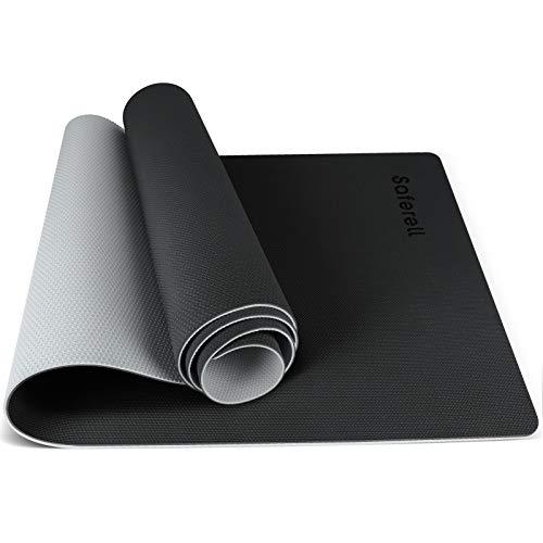 Saferell, tappetino da yoga antiscivolo, in TPE, ipoallergenico, con tracolla, per yoga, pilates, fitness e ginnastica, 183 cm x 61 cm x 0,6 cm